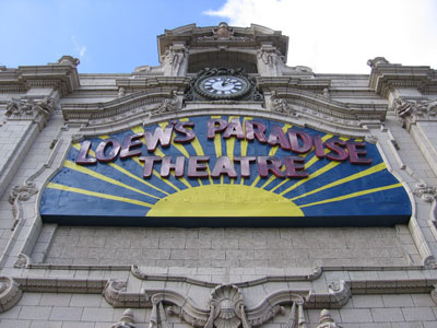 Loew's Paradise Movie Theatre 2006
