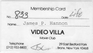 Video Villa Card of James Hannon