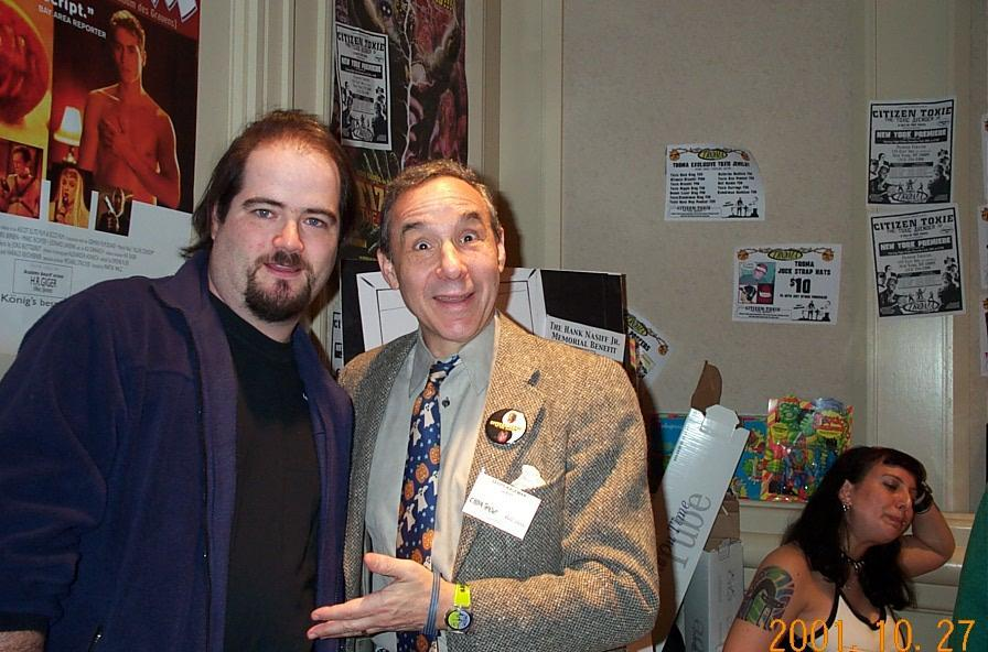 James Hannon and Lloyd Kaufman - Director of the Toxic Avenger