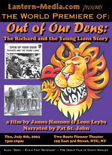 Lantern-Media poster for Out of Our Dens the Richard and the Young Lions Story